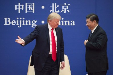 Donald Trump with Xi Jinping in China