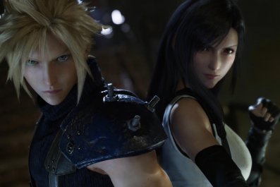 cloud and tifa square off ff7 remake