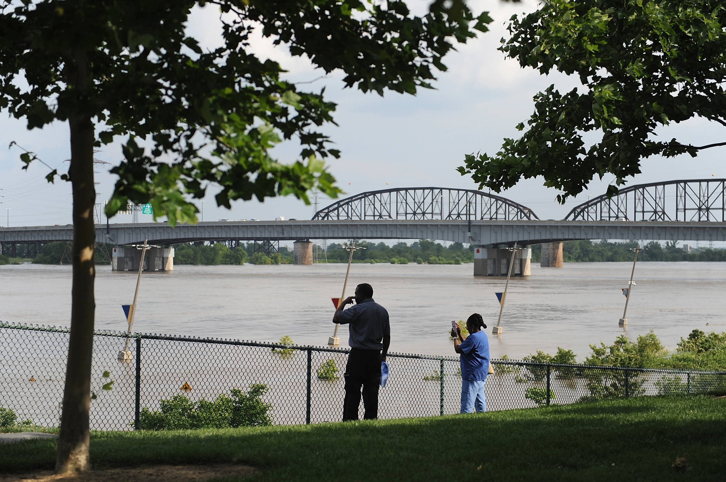 Viral Video Shows Mississippi River Flooding at St  Louis as