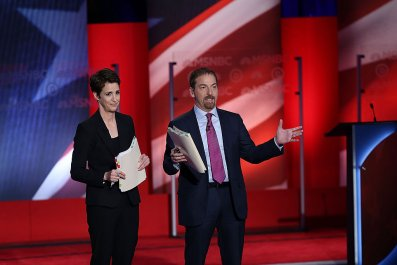 Rachel Maddow and Chuck Todd moderate debate