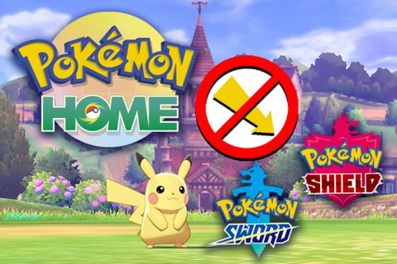 pokemon home sword shield cant transfer