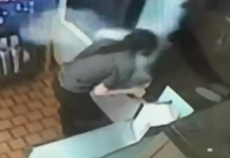 McDonald's fire extinguisher attack