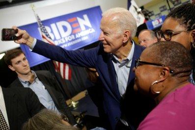 Joe Biden takes a selfie