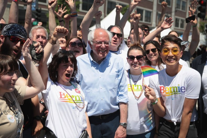 Bernie Sanders at Pride event in Iowa