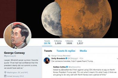 George Conway Moon Mars Twitter