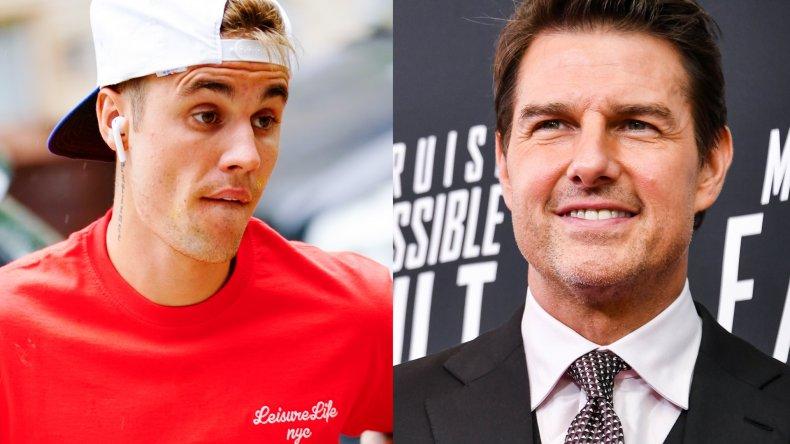 Justin Bieber Tom Cruise fight