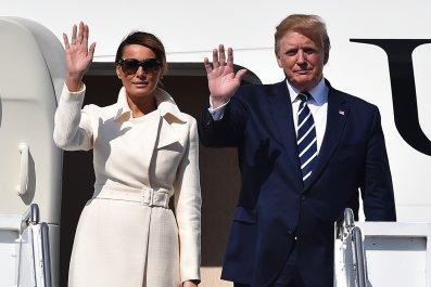 Donald Trump Melania Doonbeg golf Ireland
