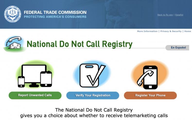 stop robocalls do not call registry