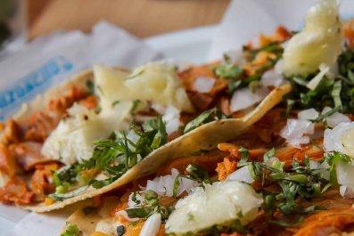 Taco mexico city food