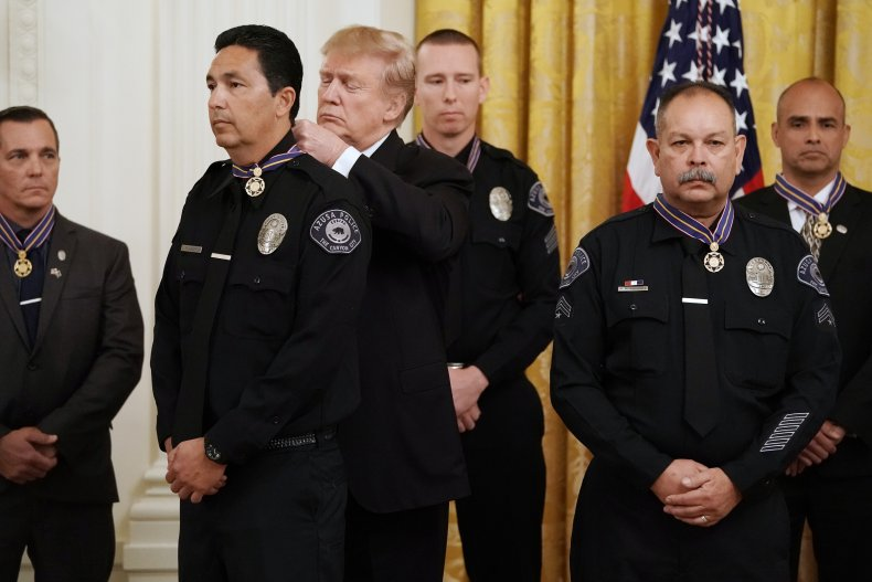 Trump with Police
