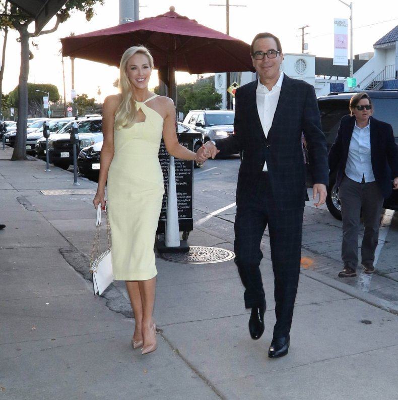 Steven Mnuchin (right) and Louise Linton