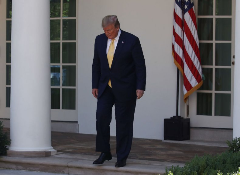 Donald Trump at White House