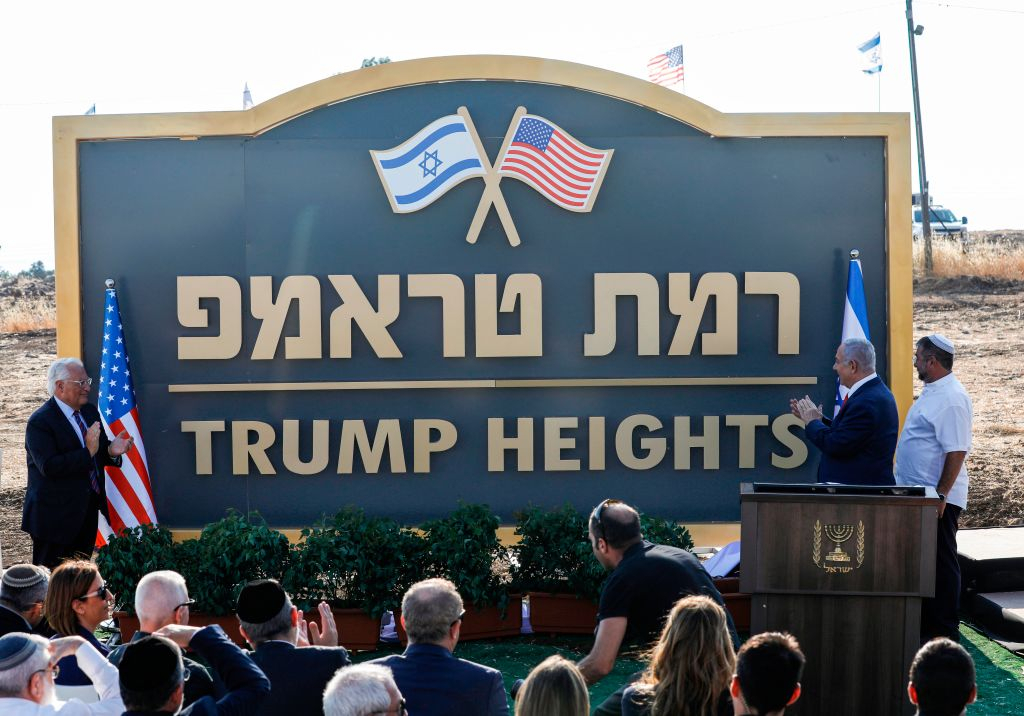 Israel officially renames Golan Heights settlement after President Donald Trump