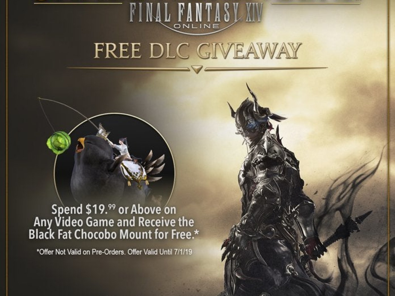 Amazon Offers 'FFXIV' Black Fat Chocobo DLC for Free During