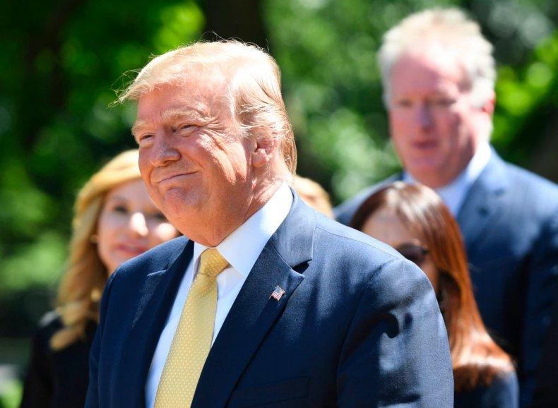 Donald Trump smiles