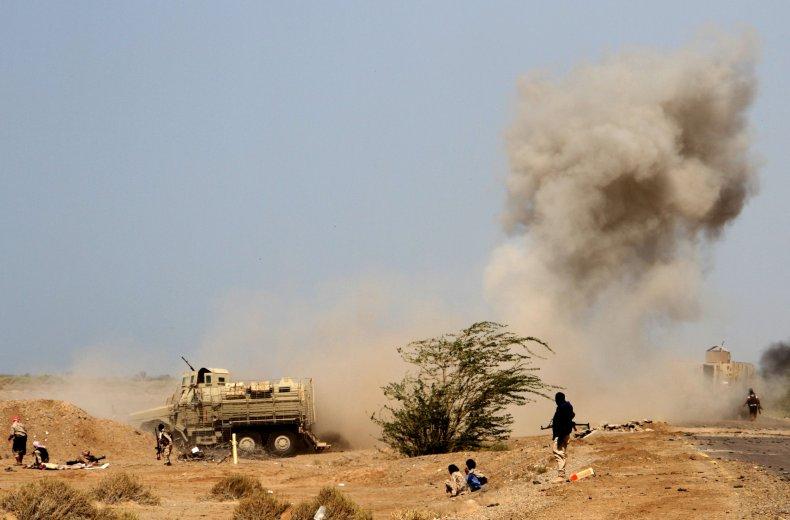 land mines, yemen