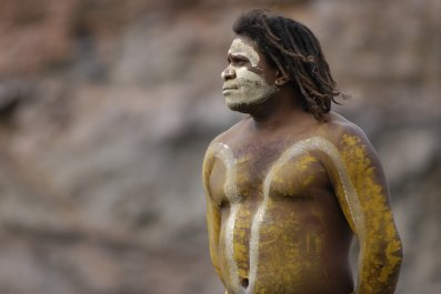 Aboriginal Man australia stock getty