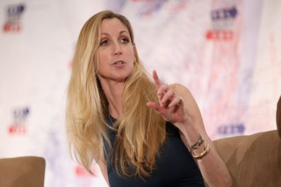Ann Coulter speaks on stage