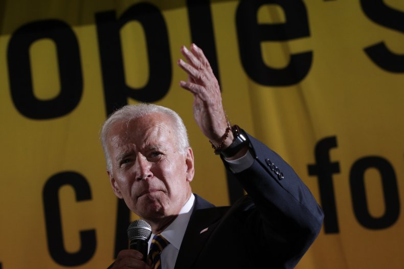 Democratic U.S. presidential hopeful Joe Biden