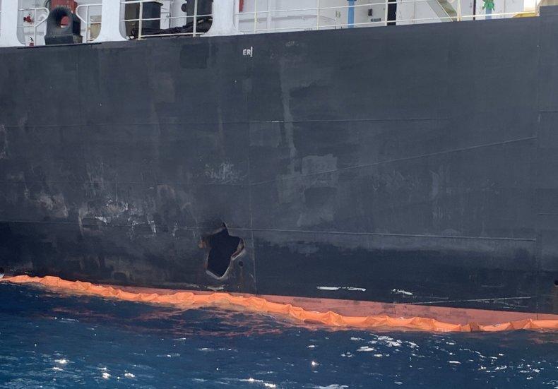 oil tanker attack gulf mideast