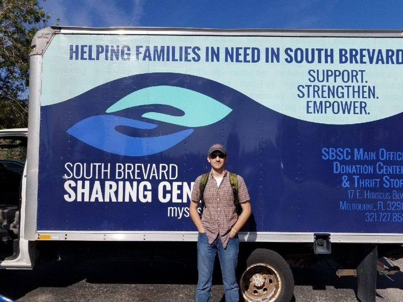 Roland Hesmondhalgh food bank donate groceries