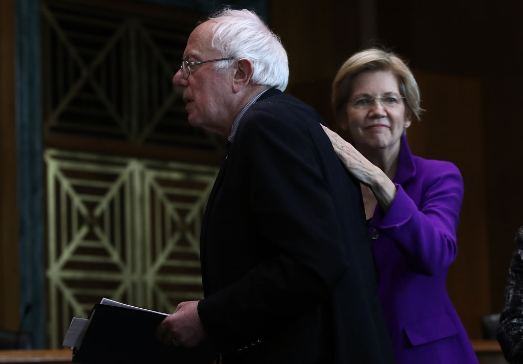 Bernie Sanders says Elizabeth Warren is beating him in some polls because people want to elect a woman