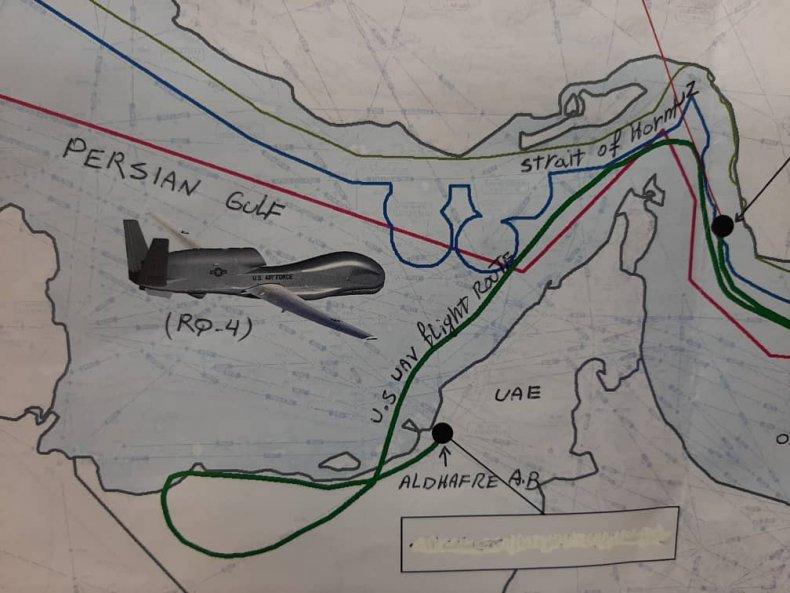 iran gulf drone attack drawing