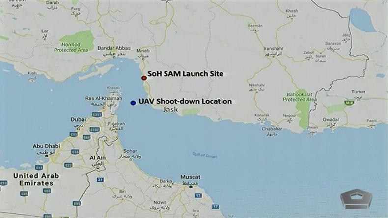 us map iran gulf drone attack