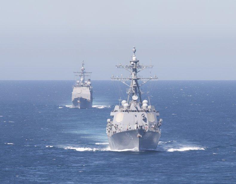 us ships iran strike group navy