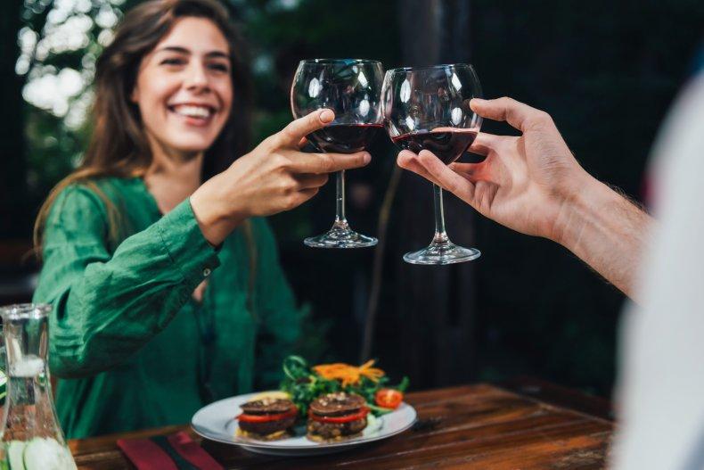 dinner, date, restaurant, couple, love, wine, food