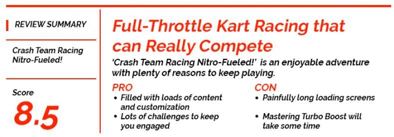 'Crash Team Racing NItro-Fueled!' Newsweek Score Card