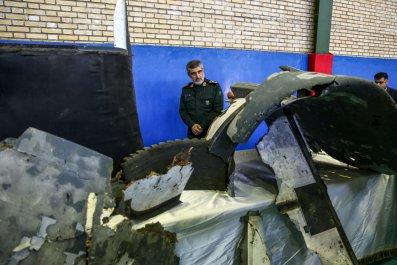iran drone down revolutionary guard