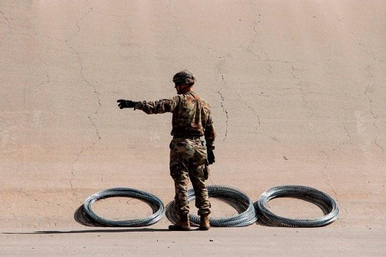 Texas troops at Mexico Border