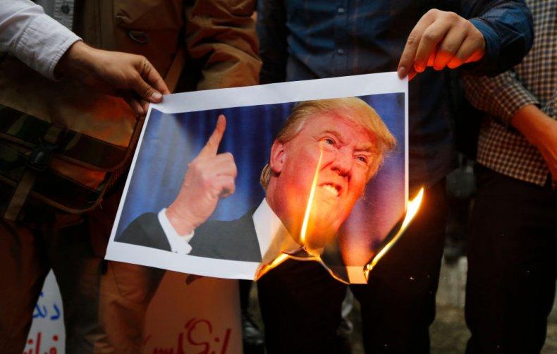Iranians protest Donald Trump