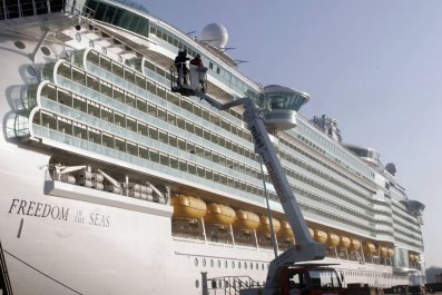 Freedom of the Seas, Royal Caribbean, Crash