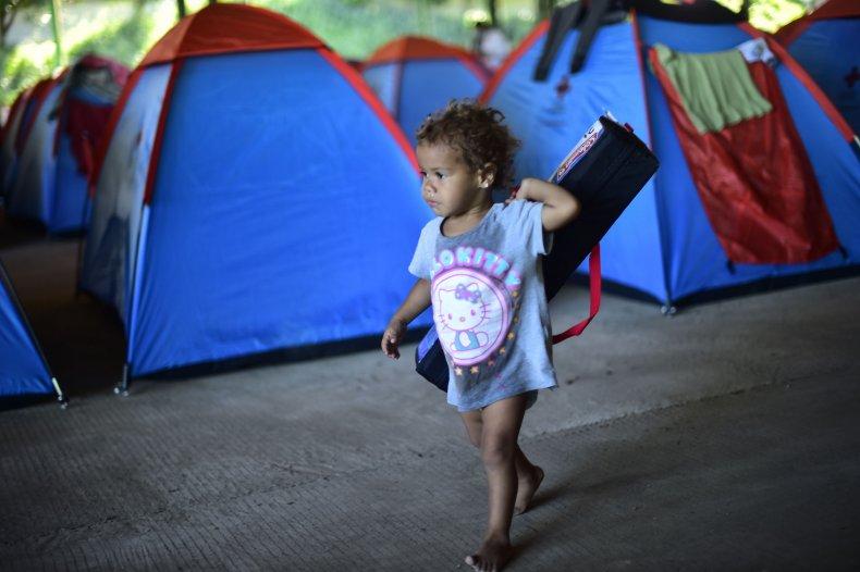 Honduran migrant child