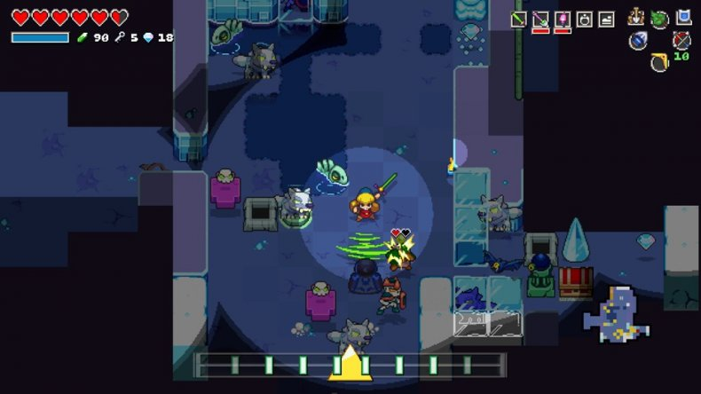 cadence of hyrule review gampelay dungeon