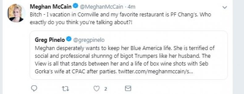 Meghan McCain Uses P.F. Chang's and Feminism in Latest Twitter Feud