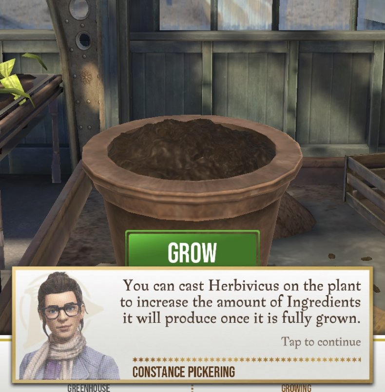 harry potter wizards unite greenhouse growing how use seeds water potion recipe guide get find