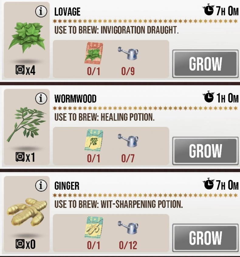 Harry Potter Wizards Unite Greenhouse Guide On Seeds Water
