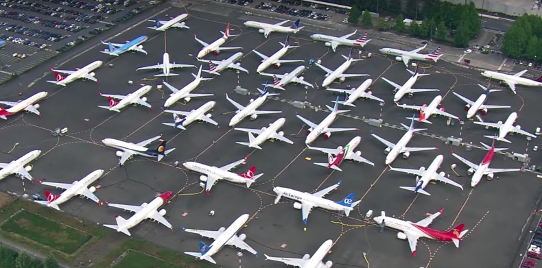 grounded 737 max planes