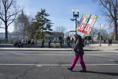 pro-life activist protest