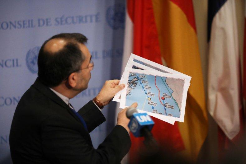 iran un gulf drone map