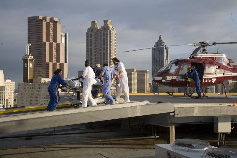 Man Hospital Helicopter Trauma