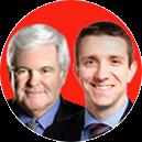 Newt Gingrich and Joe DeSantis