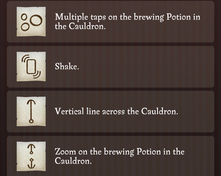 graphic regarding Harry Potter Potions Book Printable titled Harry Potter: Wizards Unite Potions Advisor - Discover Notes