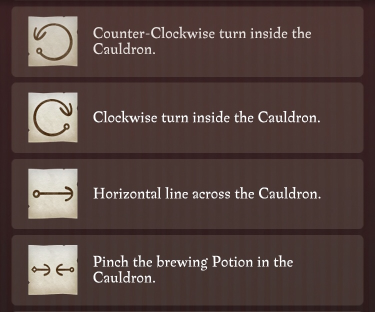 picture relating to Harry Potter Spell List Printable referred to as Harry Potter: Wizards Unite Potions Lead - Find out Notes