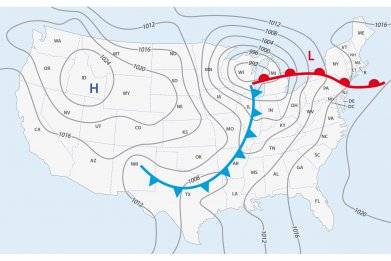 Weather Map USA iStock
