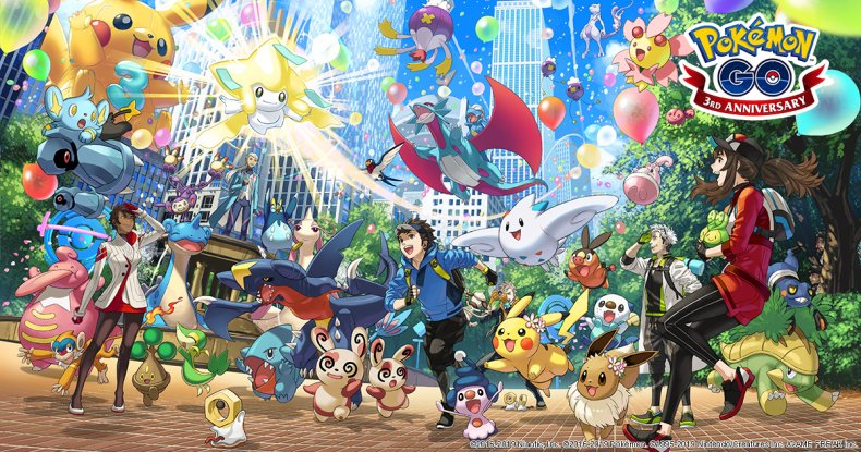pokemon go 3rd anniversary event start time