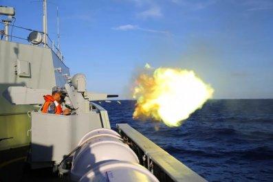 china navy gun south sea